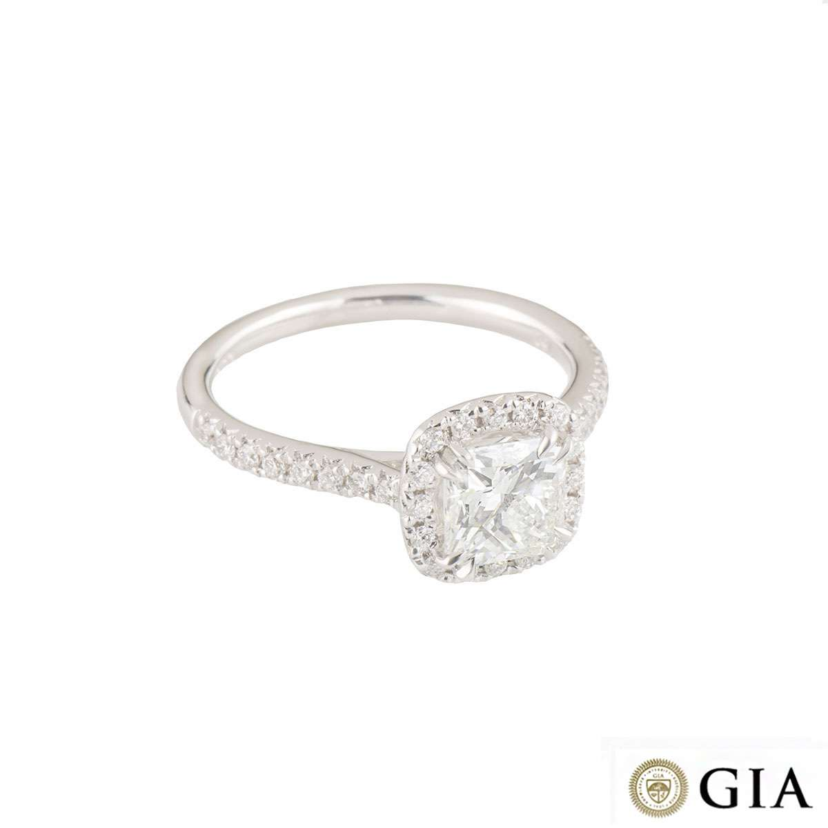 Radiant Cut Diamond Ring 1.14ct F/VS2